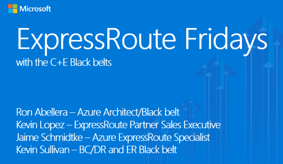 ExpressRoute Fridays with the C+E Blackbelts